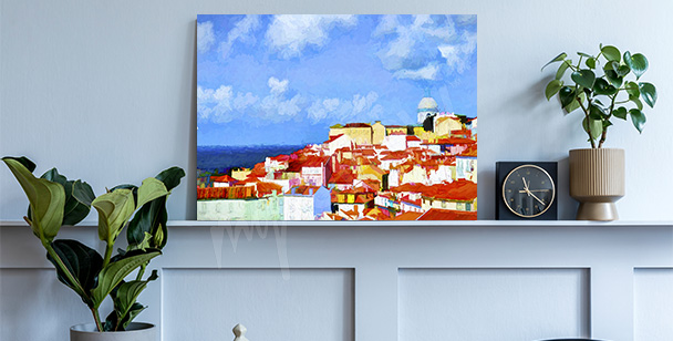 Obraz Lizbona w malarstwie