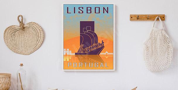 Obraz Lizbona w stylu vintage