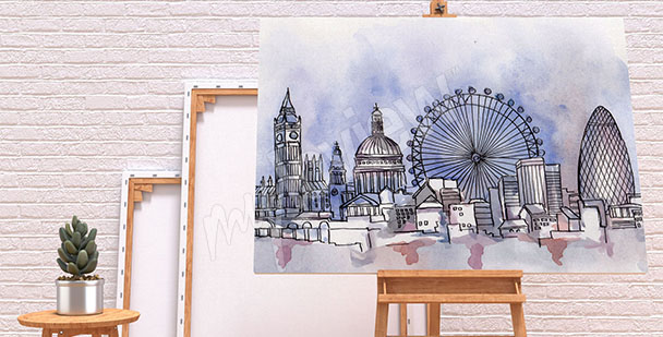 Obraz Londyn akwarela
