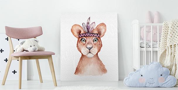 Obraz lwiątko do pokoju dziecka