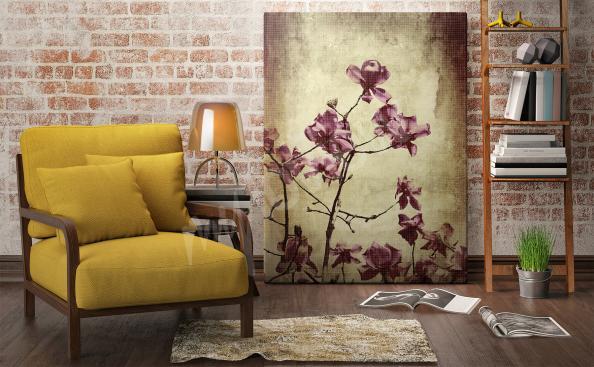 Obraz magnolia styl vintage