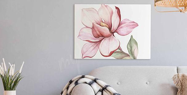 Obraz magnolia w akwareli