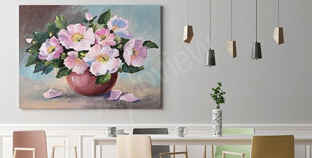Obraz malowane kwiaty
