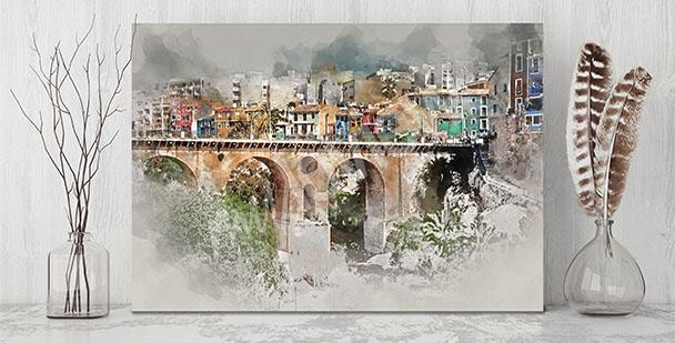 Obraz malownicze miasteczko