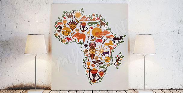 Obraz mapa Afryki