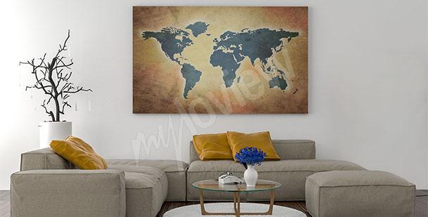 Obraz mapa do salonu