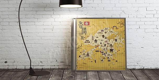 Obraz mapa Hongkongu