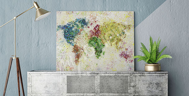 Obraz mapa kontynentów