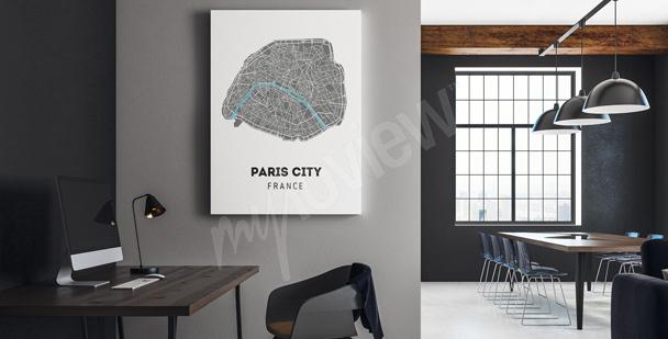 Obraz mapa miasta