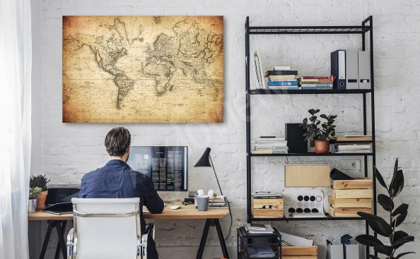 Obraz mapa retro do biura