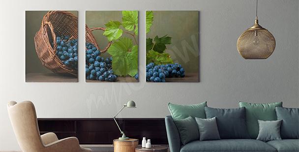 Obraz martwa natura kosz owoców
