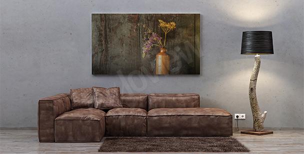 Obraz martwa natura miedziany wazon