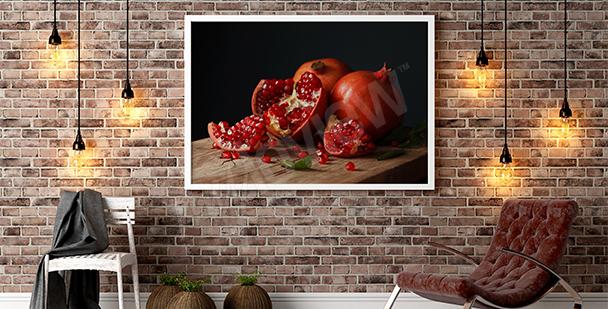 Obraz martwa natura owoce