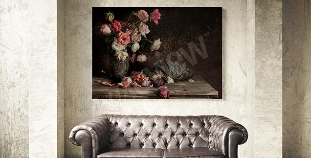 Obraz martwa natura róże