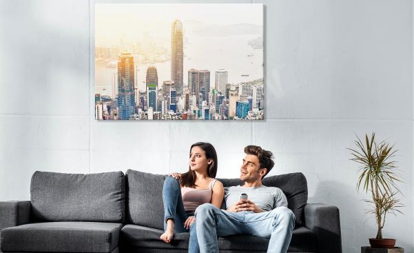 Obraz miasta z wieżowcami