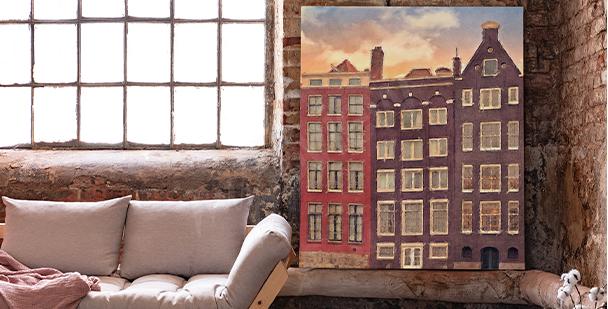 Obraz miasto Amsterdam