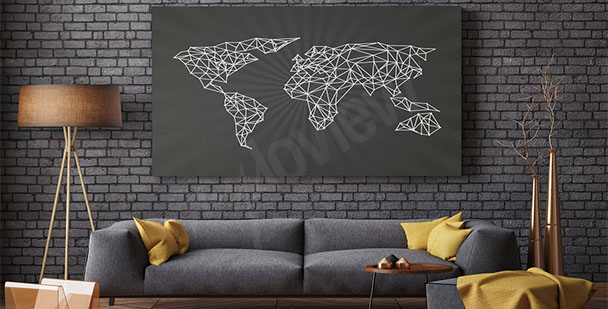 Obraz minimalistyczna mapa