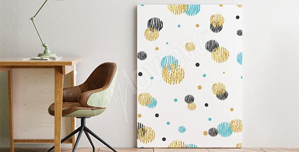 Obraz minimalistyczny w kropki