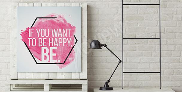 Obraz minimalistyczny z napisami