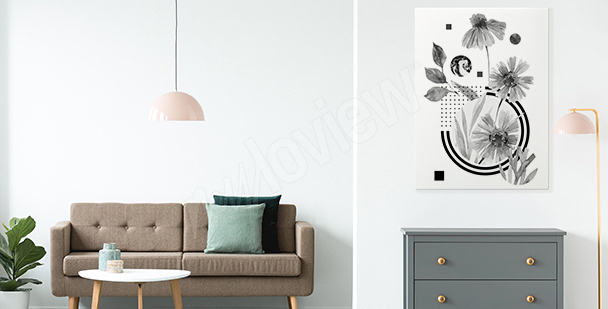 Obraz minimalizm do przedpokoju