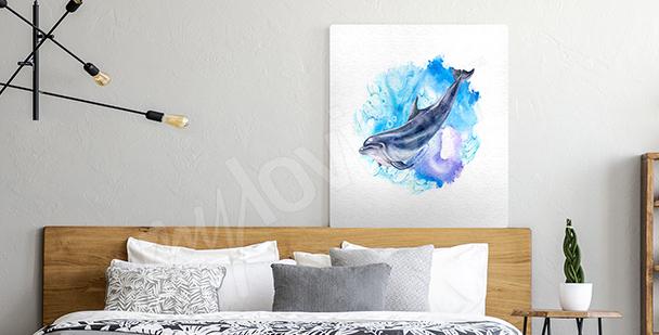 Obraz dwa delfiny