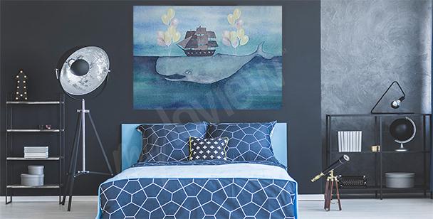Obraz morze i wieloryb