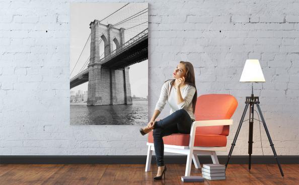 Obraz Most Brookliński nad rzeką