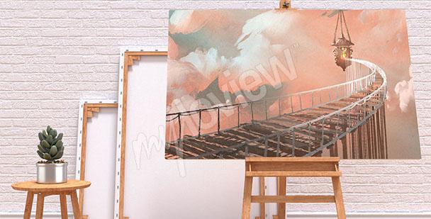Obraz most w chmurach
