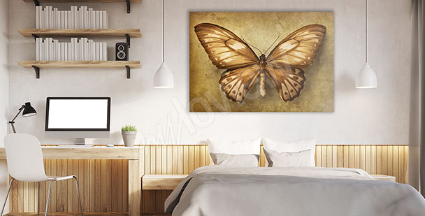 Obraz motyl do sypialni