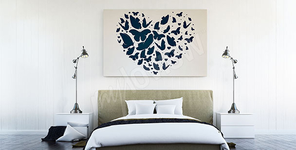 Obraz motyle w sercu