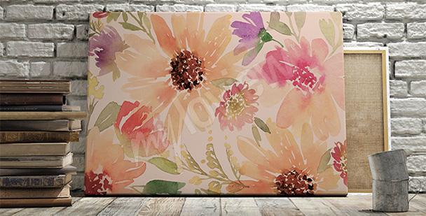 Obraz motyw kwiatów do salonu