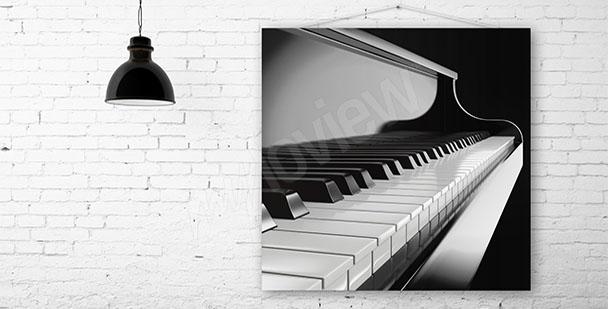 Obraz muzyka czarno-biały