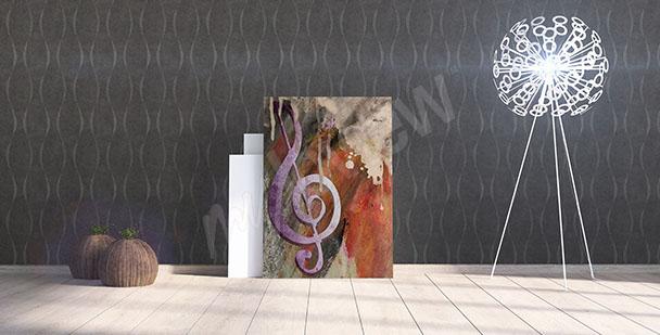 Obraz muzyka klucz wiolinowy