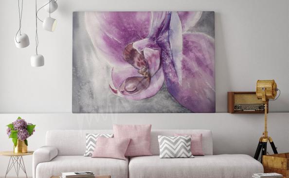 Obraz na ścianę w salonie orchidea