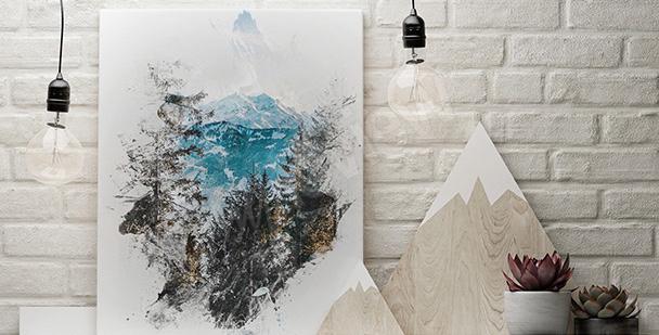 Obraz natura zimowa