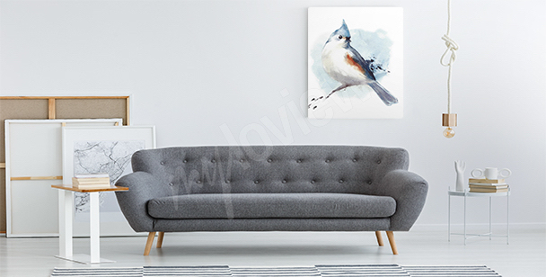 Obraz ptak czarno-biały