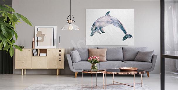 Obraz delfiny styl vintage