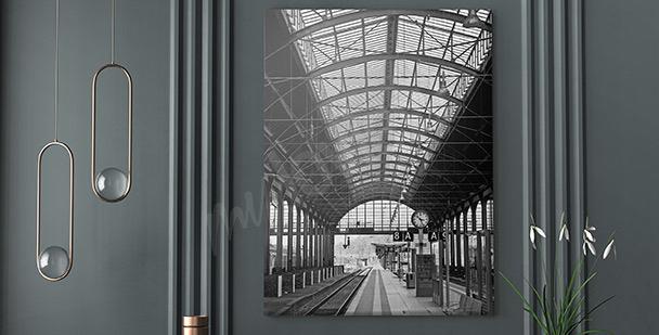 Obraz nowoczesny dworzec