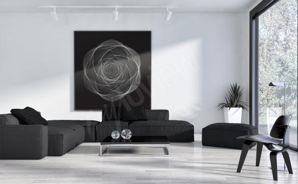 Obraz nowoczesny graficzna róża