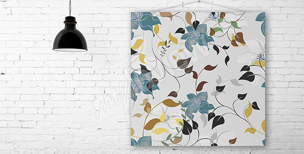 Obraz nowoczesny motyw kwiatów