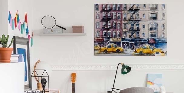 Obraz Nowy Jork w akwareli