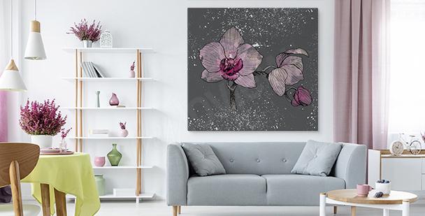 Obraz orchidea vintage