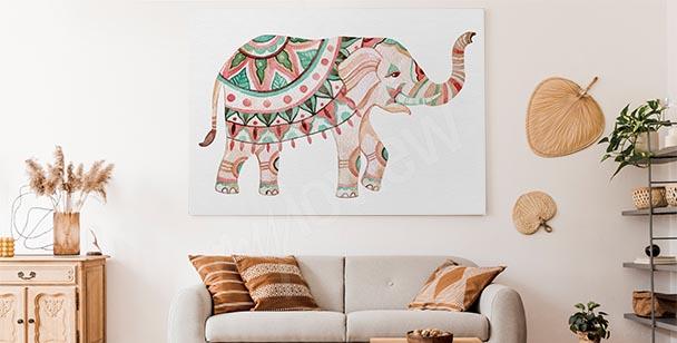 Obraz ornament i słoń