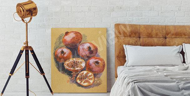 Obraz owoce do sypialni
