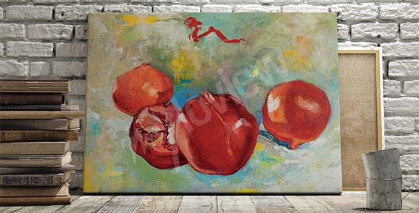 Obraz owoce granatu