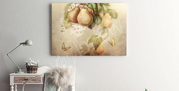 Obraz owoce gruszki