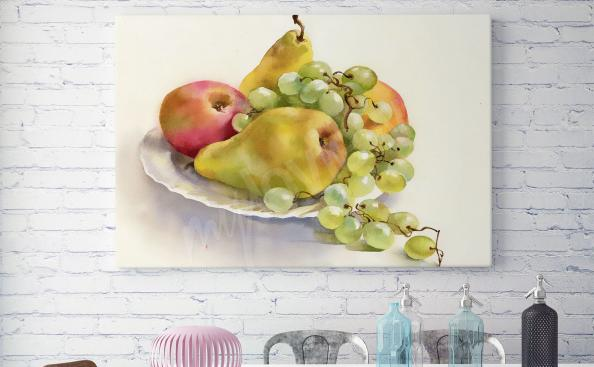 Obraz owoce na półmisku