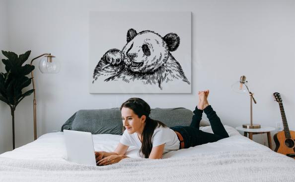 Obraz panda monochromatyczna