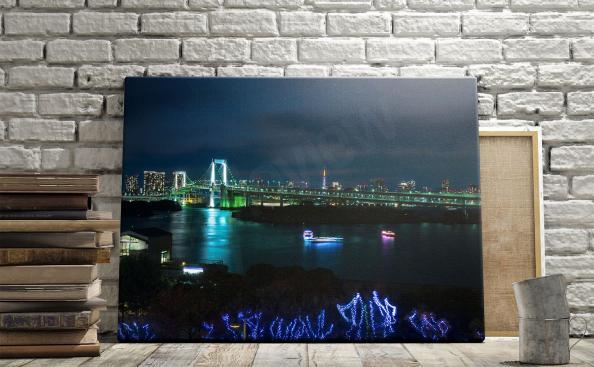 Obraz panorama Tokio nocą