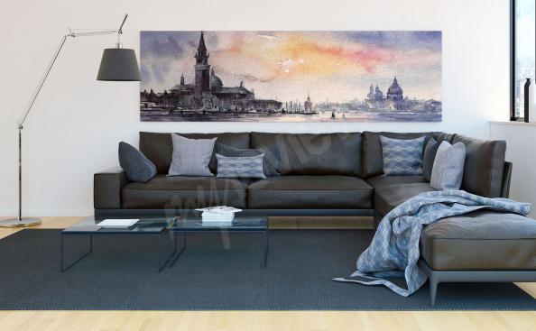 Obraz panorama Wenecji akwarela